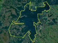 Satellitenbild des Urwaldschutzgebietes San Rafael