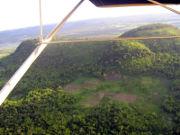 Blick aus dem Überwachungsflugzeug