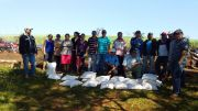 Training on Corn Crop and delivery of corn seeds to beneficiaries on Libertad del Sur's community.