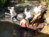 Investigación de los arroyos en la cuenca del Río Pirapo